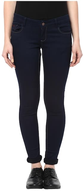 Crimsoune Club Navy Blue Solid Jeans