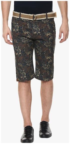 Crimsoune Club Brown Printed Shorts