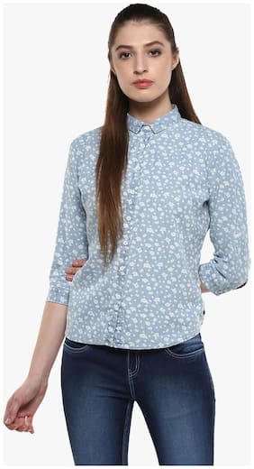 Crimsoune Club Grey Printed Casual Shirt