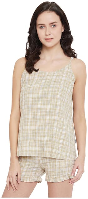 Checked Top and Shorts Set ,Pack Of 2
