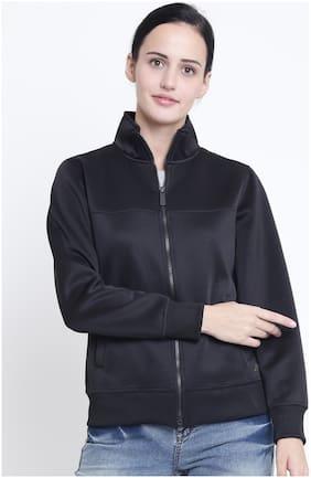 Crimsoune Club Women Solid Sweatshirt - Black