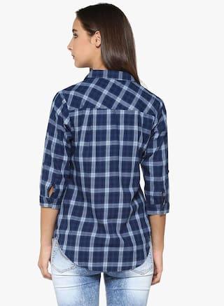 Casual Shirt Crimsoune Blue Club Check qFqtPIg