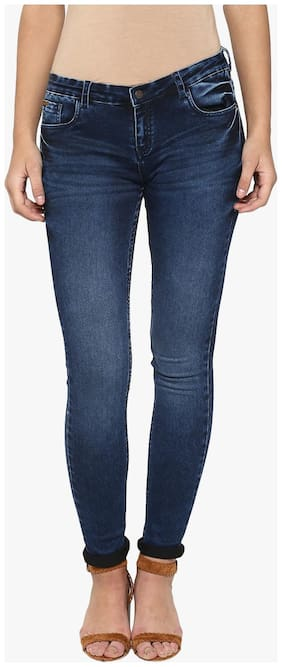 Crimsoune Club Women Regular fit Mid rise Solid Jeans - Blue