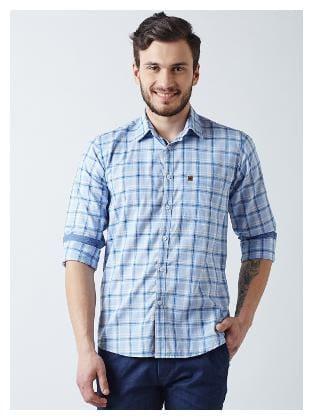 Crimsoune Club Men Regular fit Casual shirt - Blue