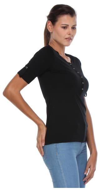 CRIMSOUNE Solid Black Tshirt CLUB Zs5MFSu4vc