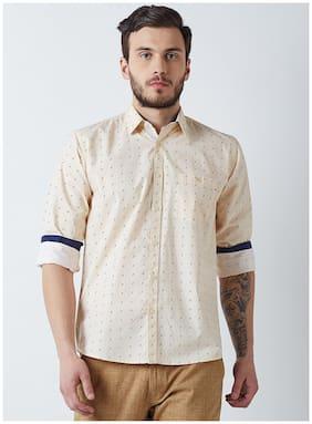 Crimsoune Club Men Slim fit Casual shirt - Beige