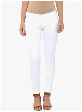 Crimsoune Club White Solid Trouser