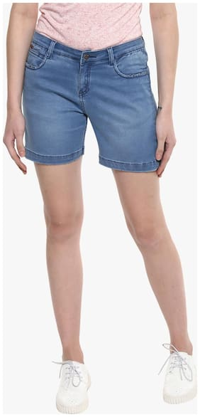 Crimsoune Club Blue Solid Shorts