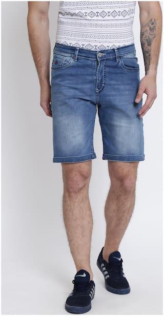 Crimsoune Club Men Blue Slim Fit Denim Shorts