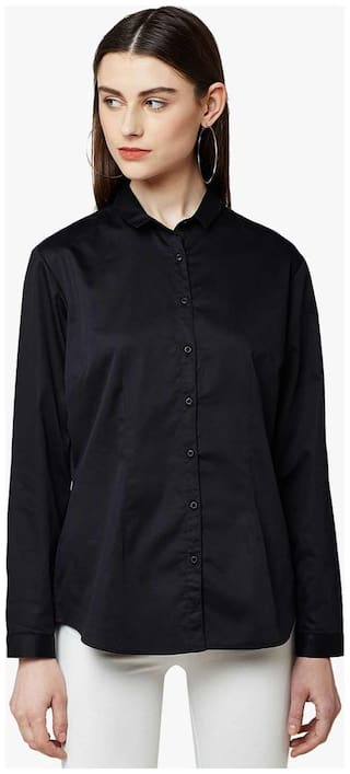 Crimsoune Club Black Solid Casual Shirt