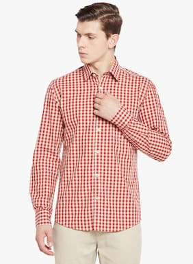 Crimsoune Club Men Slim Fit Casual shirt - Red