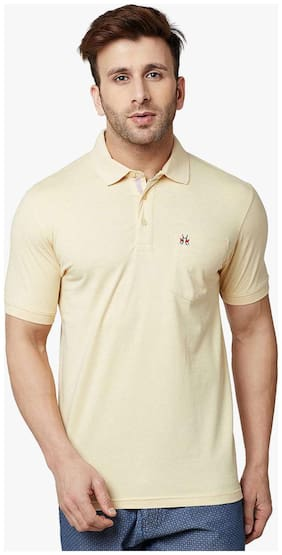 Crimsoune Club Yellow Solid Polo Tshirt