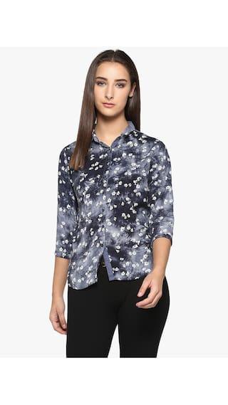 Crimsoune Club Black Printed Casual Shirt