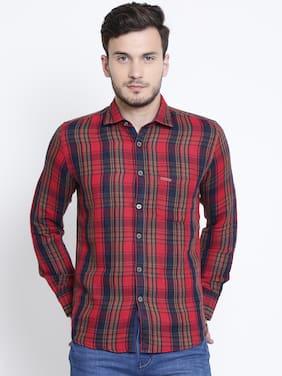 Crimsoune Club Men Slim Fit Casual shirt - Red