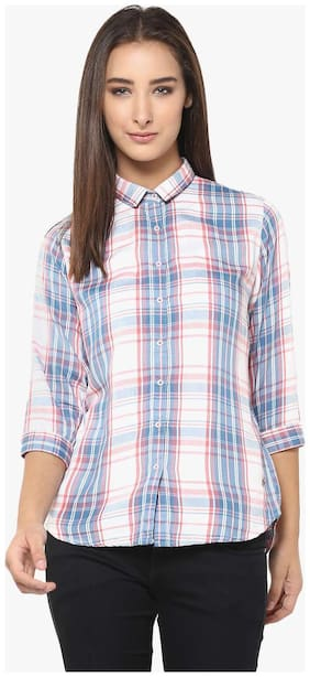 Crimsoune Club Blue Check Casual Shirt
