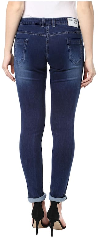 Jeans Navy Crimsoune Club Blue Solid vRxIqwa