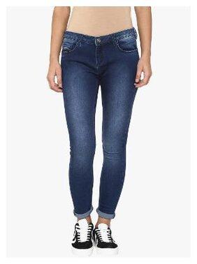 Crimsoune Club Women Regular Fit Mid Rise Solid Jeans - Blue
