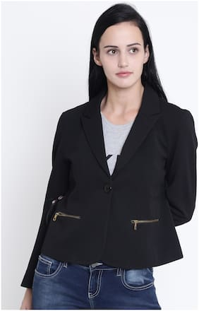 Women Cotton Slim Fit Blazer
