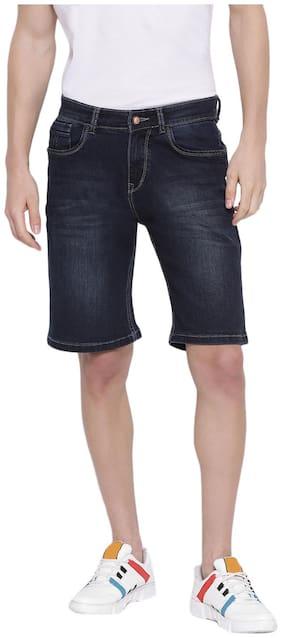 Men Solid Denim Shorts ,Pack Of Pack Of 1