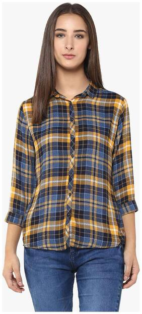 Crimsoune Club Yellow Check Casual Shirt