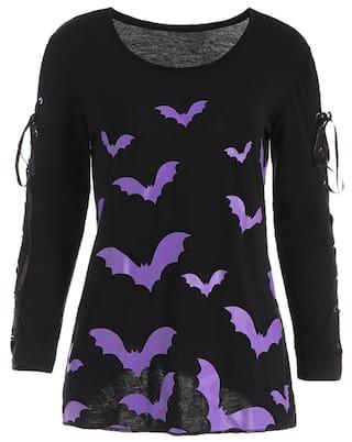 Long Cross Sleeve shirt Criss Bat Halloween T 5Z7fgwqd