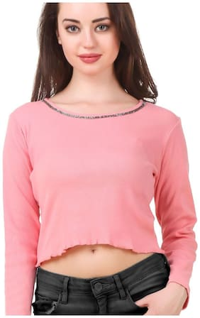 FAIRIANO Women Printed A-line top - Pink