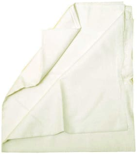 CRYSTAL LINEN Men Linen Solid Suiting - White
