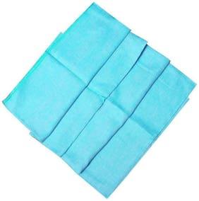 CRYSTAL LINEN Men Linen Solid Suiting - Blue