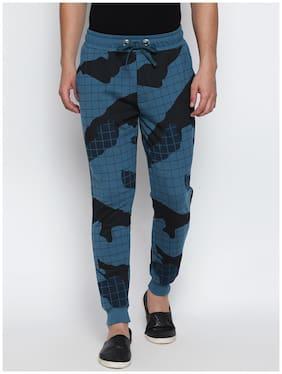 Cult Fiction Men Cotton Track Pants - Blue