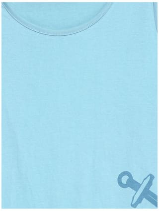 Color Blue Neck For Fiction Cotton Round 3 Sleeve 4Th Womens Tshirt Light Cult 3zbTr