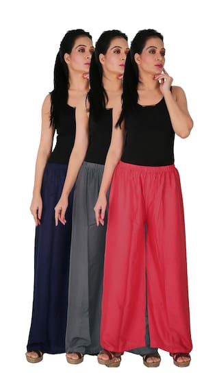 B3G1P the Women's RPZ Pink Rayon Solid Grey Blue Palazzo Size Dignity 3 Navy Culture of of 3 Free Combo Pack C wZECdqcx