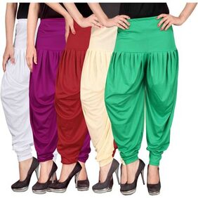 Culture the Dignity Women's Lycra Dhoti Pants CTD_00WP1RCG_1-Combo Pack of 5