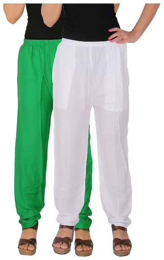 Free Women's Combo Solid C White Rayon of Casual 2 GW of Green Pack 2 Culture Size Side With the Pants Pockets RPT Dignity p1xwqgv