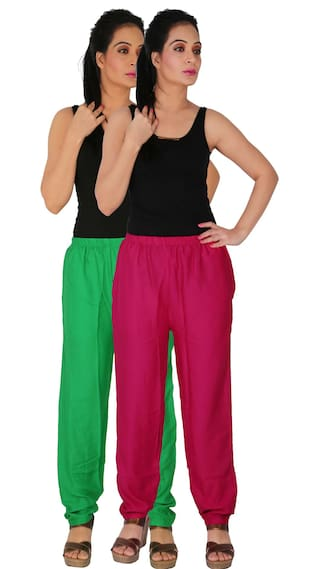 Size Rayon With Dignity GM1 2 RPT Green C Pockets Casual Side Women's 2 of Culture Pack Free Combo the Solid Pants of Magenta tgqnxB