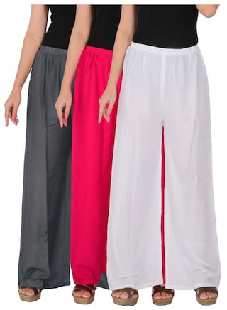 C Free Magenta Rayon Combo Culture Women's 3 of the Dignity G1M1W 3 White Palazzo Size RPZ Solid Grey Pack of 7RxqWpCxv