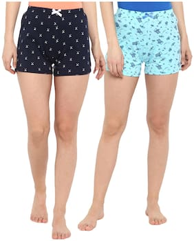 Curare Women Printed Sport shorts - Blue