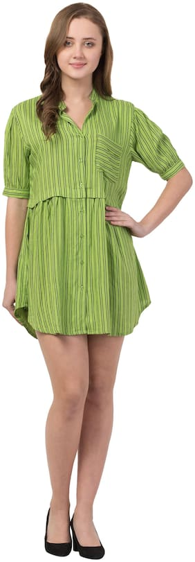 Cwtch Women Striped Regular tunic - Green
