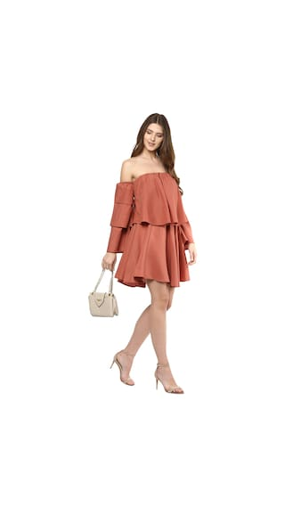 For Women's Dress Brown Fit Flare Women's and D'amor qxO6zZC