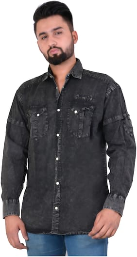DABMORE Men Regular Fit Casual shirt - Black