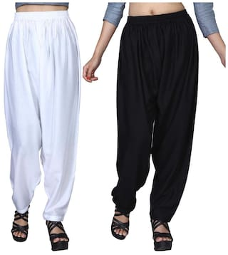 Shopy Palazzo Pant combo fit Dada Pants Comfort for Loose Baggy 2 Girls Women Hwxqd0