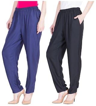 Dada Shopy Regular Cotton Palazzo Women 2 fit for Pant combo Rayon wwSrdqO