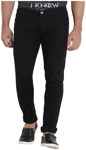 Dais Men Mid rise Skinny fit Jeans - Black
