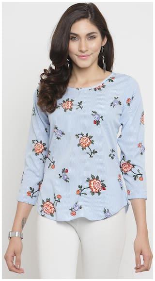 DARZI Women Crepe Floral - Regular top Multi