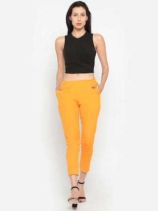 Solid Mustard De Moza Pant Women's Flex Cotton TwgZg8pq