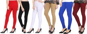 Cotton Solid Leggings Pack Of 5 Or More