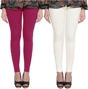 DEALBYMN Cotton Leggings - Purple & White
