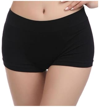 a3f74afbf Buy Dealseven Fashion 1 Boyshorts Solid Panty - Black Online at Low ...
