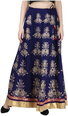 Decot Paradise Printed Flared skirt Maxi Skirt - Blue