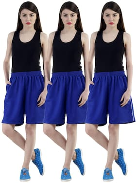 Women Loose Fit Shorts ,Pack Of 3