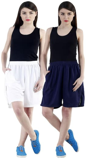 Women Loose Fit Shorts ,Pack Of 2